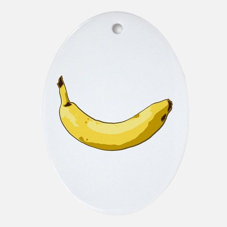 Banana Oval Ornament