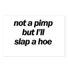 not a pimp Postcards (Package of 8)