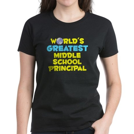 World's Greatest Middl.. (C) Women's Dark T-Shirt
