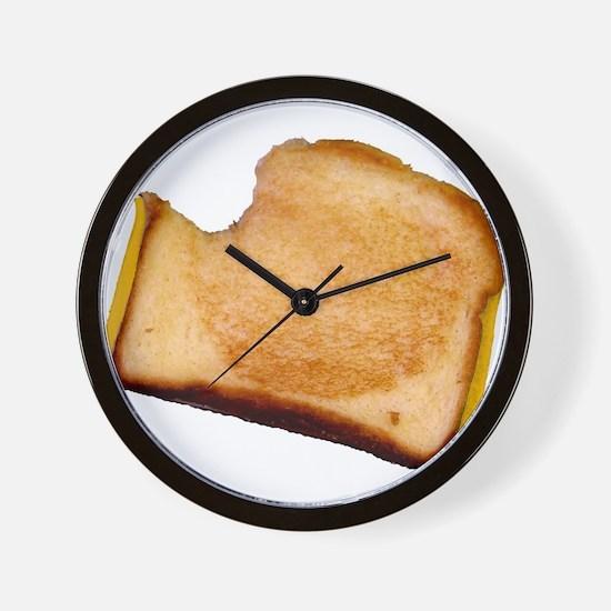 Plain Grilled Cheese Sandwich Wall Clock