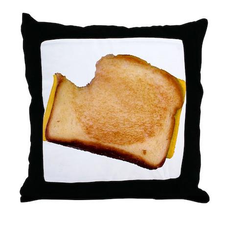 Plain Grilled Cheese Sandwich Throw Pillow