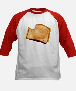 Plain Grilled Cheese Sandwich Kids Baseball Jersey