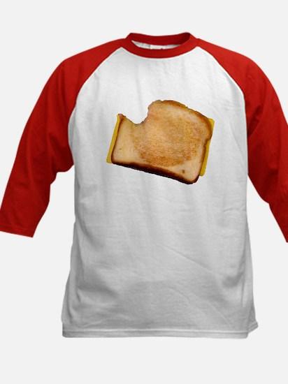 Plain Grilled Cheese Sandwich Kids Baseball Jersey
