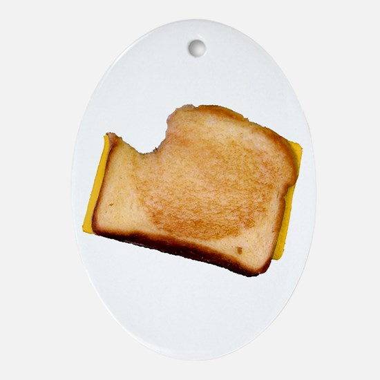 Plain Grilled Cheese Sandwich Oval Ornament
