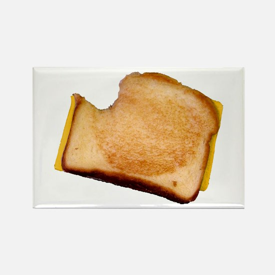 Plain Grilled Cheese Sandwich Rectangle Magnet