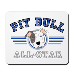 Pit Bull All-Star Blue Mousepad