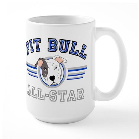 Pit Bull All-Star Blue Large Mug