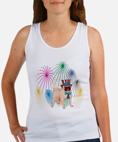 4th Of July Fireworks Pug Women's Tank Top