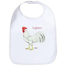 Leghorn White Rooster Bib