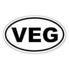 VEG Vegan Euro Oval Decal