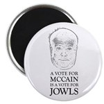 """McCain - A Vote For Jowls 2.25"""" Magnet (100 pack)"""