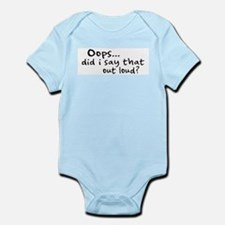 Did I Say That Out Loud? Infant Bodysuit