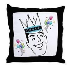 Geezer Birthday Throw Pillow