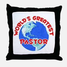 World's Greatest Pastor (F) Throw Pillow