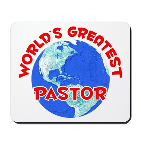 World's Greatest Pastor (F) Mousepad