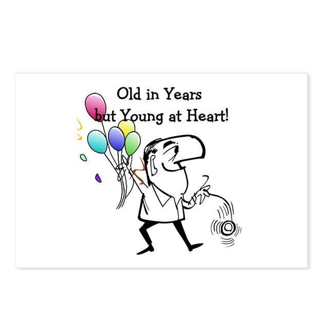 Young At Heart Birthday Postcards (Package Of 8) By