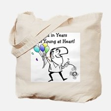 Young at Heart Birthday Tote Bag