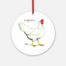 Leghorn White Hen Ornament (Round)