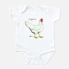 Leghorn White Hen Infant Bodysuit