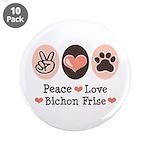 Peace Love Bichon Frise 3.5