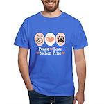 Peace Love Bichon Frise Dark T-Shirt