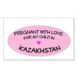Kazakhstan Adoption Rectangle Sticker