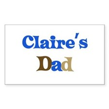 Claire's Dad Rectangle Decal