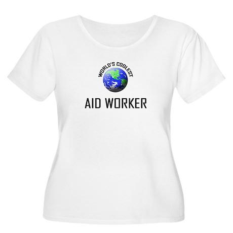 World's Coolest AID WORKER Women's Plus Size Scoop