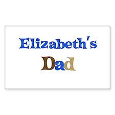 Elizabeth's Dad Rectangle Decal