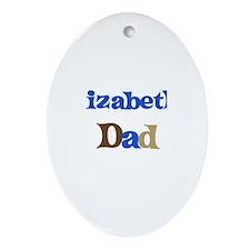 Elizabeth's Dad Oval Ornament