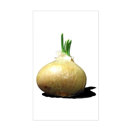 Sprouting Onion Rectangle Sticker
