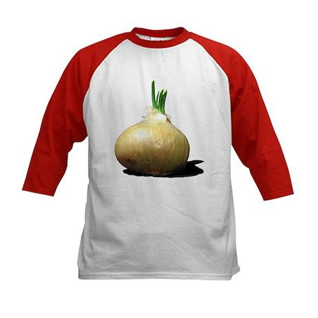 Sprouting Onion Kids Baseball Jersey