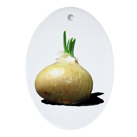 Sprouting Onion Oval Ornament