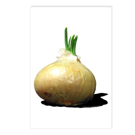 Sprouting Onion Postcards (Package of 8)