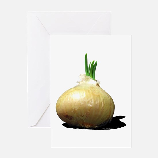 Sprouting Onion Greeting Card