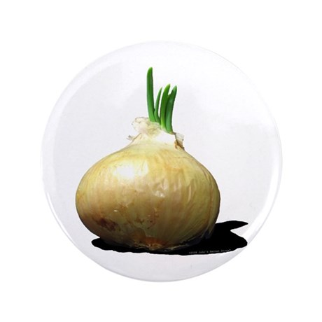 """Sprouting Onion 3.5"""" Button"""
