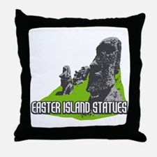 Easter Island Statues Throw Pillow