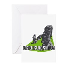 Easter Island Statues Greeting Cards (Pk of 10)