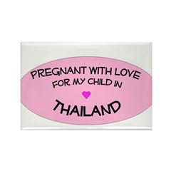 Thailand Adoption Rectangle Magnet