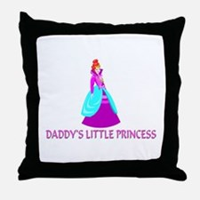 Daddy's Little Princess Throw Pillow