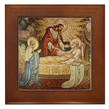 Jesus Mural Framed Tile