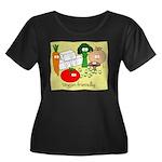 Veggie Friendly Women's Plus Size Scoop Neck Dark