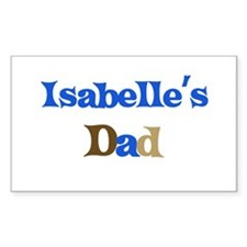 Isabelle's Dad Rectangle Decal