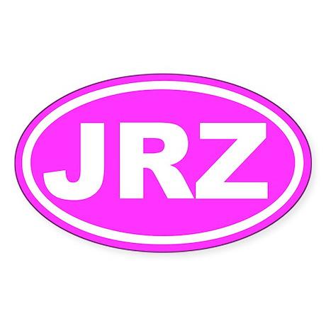 JRZ Jersey Pink Euro Oval Sticker