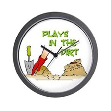 Plays in the Dirt Wall Clock