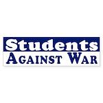 Students Against War bumper sticker