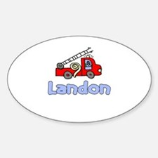Landon Oval Decal