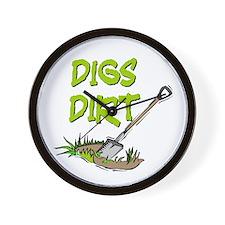 Digs Dirt Wall Clock
