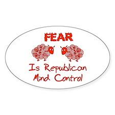 Fear Politics Oval Decal
