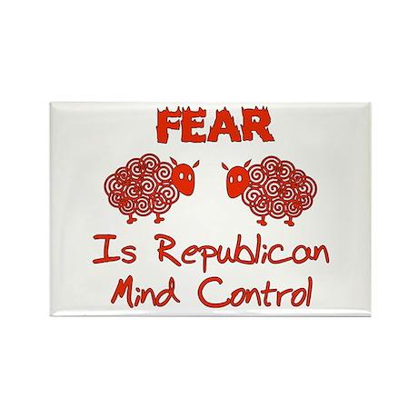 Fear Politics Rectangle Magnet
